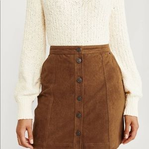 Abercrombie & Fitch Skirts - Abercrombie and Fitch | faux suede  mini skirt